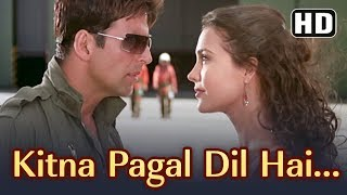 Kitna Pagal Dil Hai | Andaaz Songs | Akshay Kumar | Lara Dutta | Kumar Sanu | Love Song | Gold songs