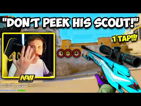 S1MPLE CAN 1 TAP WITH A SCOUT? PRO MOVEMENT PEEK! CS:GO Twitch Clips