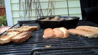 Sausage Sandwiches Off The Pit - Bbq
