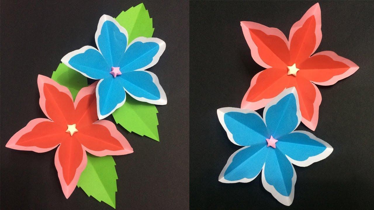 How To Make 5 Petal Paper Flower Making Paper Flowers Diy Paper
