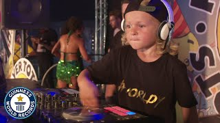 World's youngest DJ puts on a show! - Meet The Record Breakers