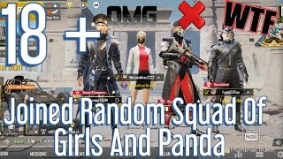Joined Random Squad Of Girl And Panda | Use Headphones | Pubg Mobile
