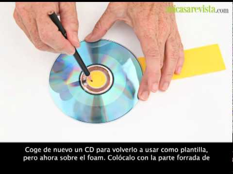 Un calendario redondo con cd 39 s manualidades youtube for Calendario manualidades