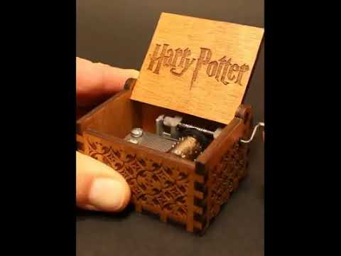 Engraved wooden music box Harry Potter - Theme