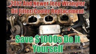 Jeep Wrangler JK JKU 3.6 Pentastar Oil Filter Cooler Housing Replacement