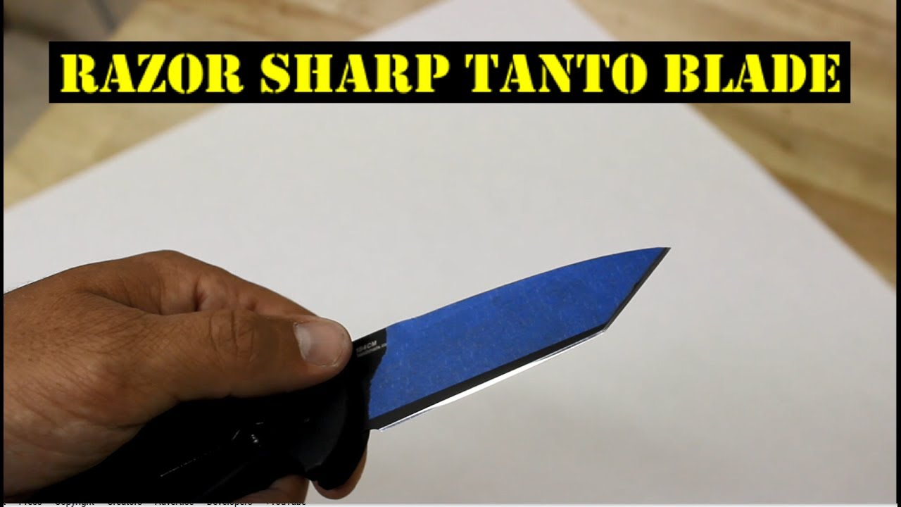 How To Sharpen Benchmade Tanto Knife | EdgeProinc.com - YouTube
