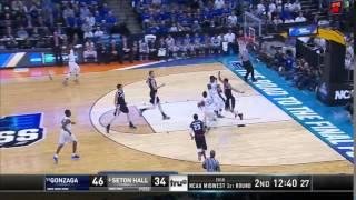 Seton Hall vs. Gonzaga: Derrick Gordon and-one