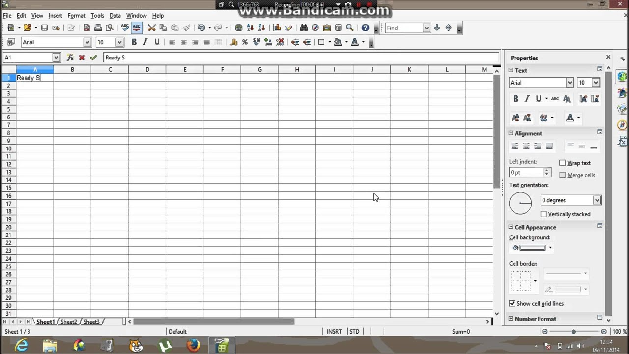 how to make a graph on open office real easy