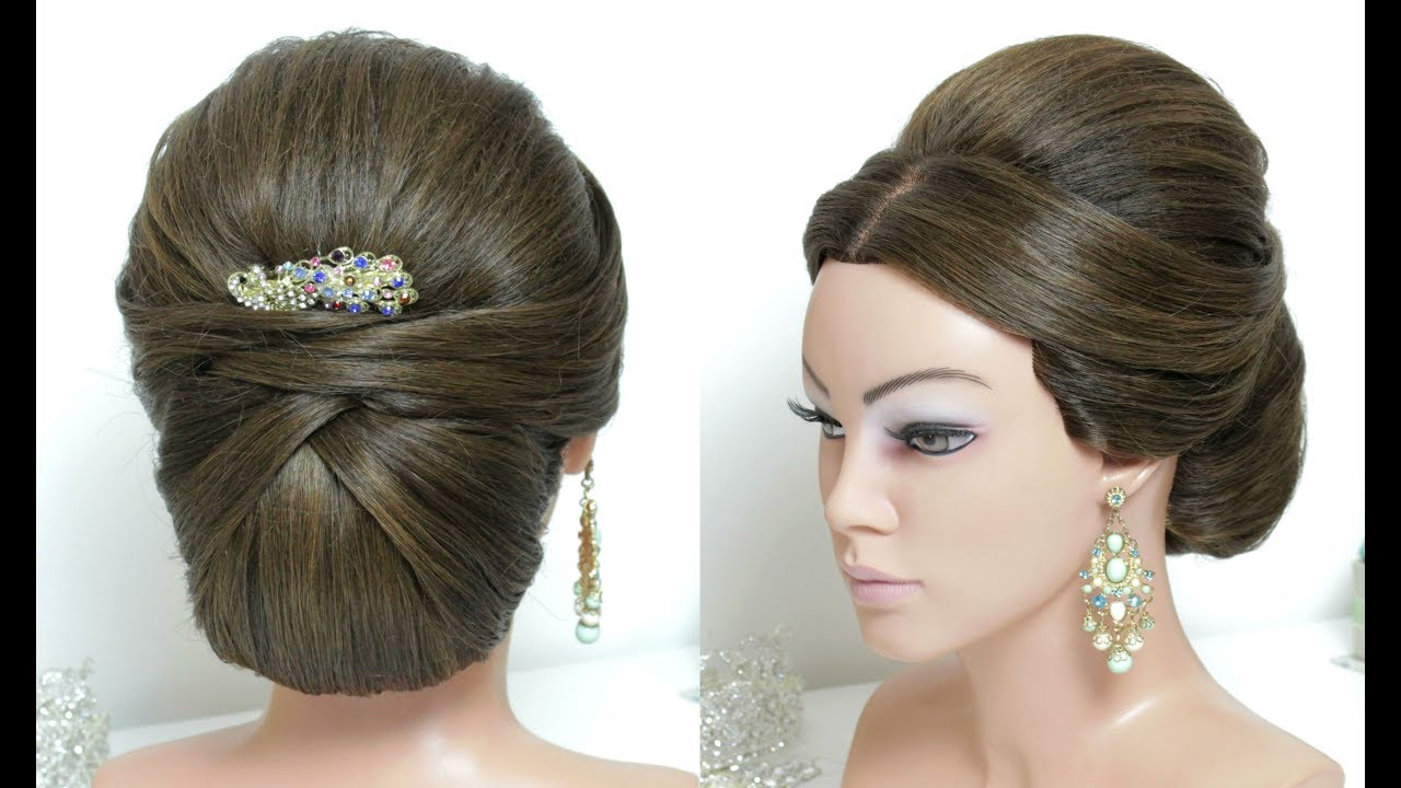 Beautiful Bridal Hairstyle For Long Hair: Beautiful Juda Hairstyle For Long Hair. Wedding Style