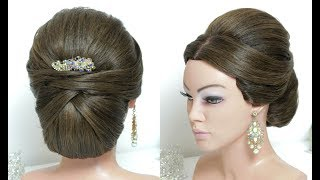 Beautiful Hairstyles with Puff. Easy Wedding Updo Hairstyle