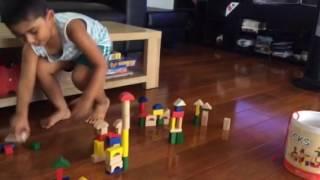 Aarosh playing