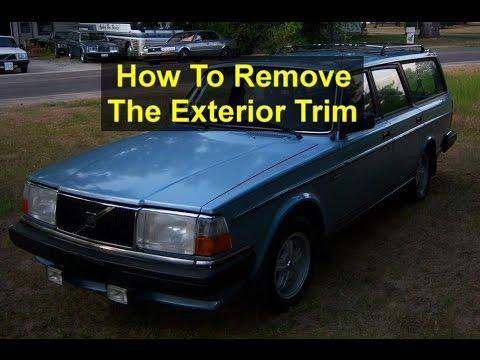 Volvo 240 Trim - Side And Roof Rain Trim Removal From A Volvo Votd - Volvo 240 Trim