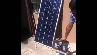 como conectar panel solar