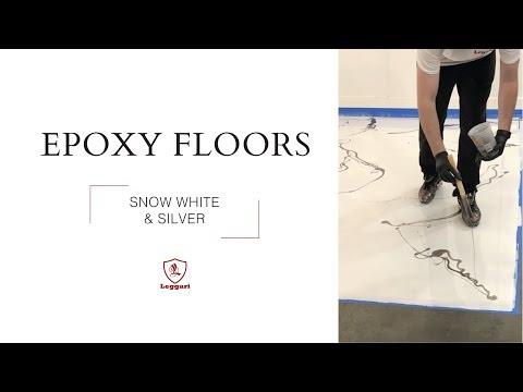 Snow White and Silver Epoxy Floor Tutorial