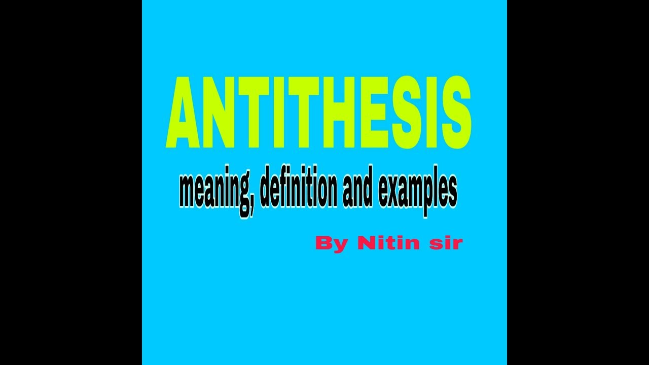 antithesis in english