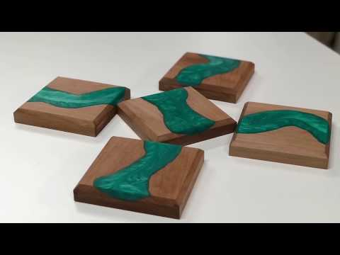 How to make epoxy river coasters
