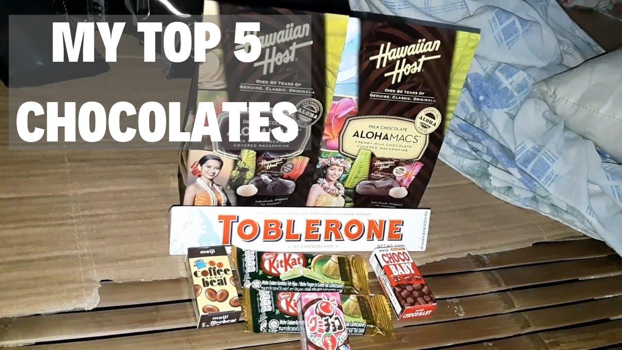 My Top 5 Chocolates Brands Hawaiian Host Toblerone Kitkat