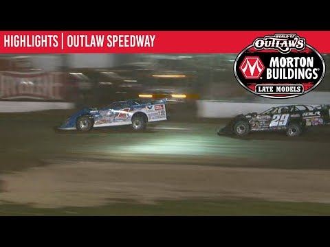 World of Outlaws Morton Buildings Late Model Series Feature Event Highlights from Outlaw Speedway in Dundee, New York on September 20th, 2019. To view ... - dirt track racing video image