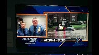 Cops Save Bride and Groom on Wedding Day