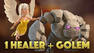 1 Healer + 1 Golem Killsquad | Golem Walk Mass Hog Strategy | Clash Of Clans