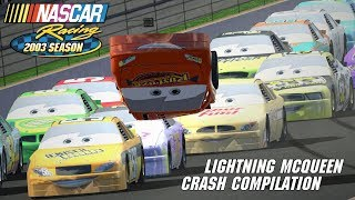 Lightning McQueen Crash Compilation | NASCAR Racing 2003 Season