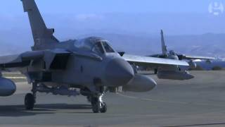 British fighter jets return from airstrikes in Syria