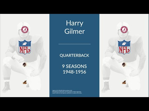 Harry Gilmer: Football Quarterback,  Halfback, and Defensive Back