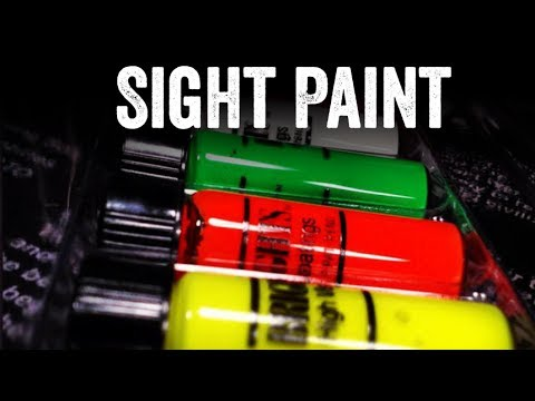How to apply sight paint