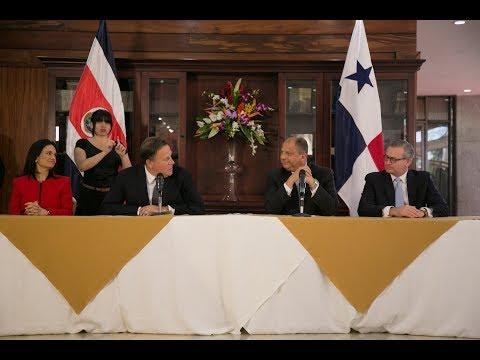 Presidentes de Costa Rica y Panamá analizaron temas de seguridad y migración en encuentro bilateral