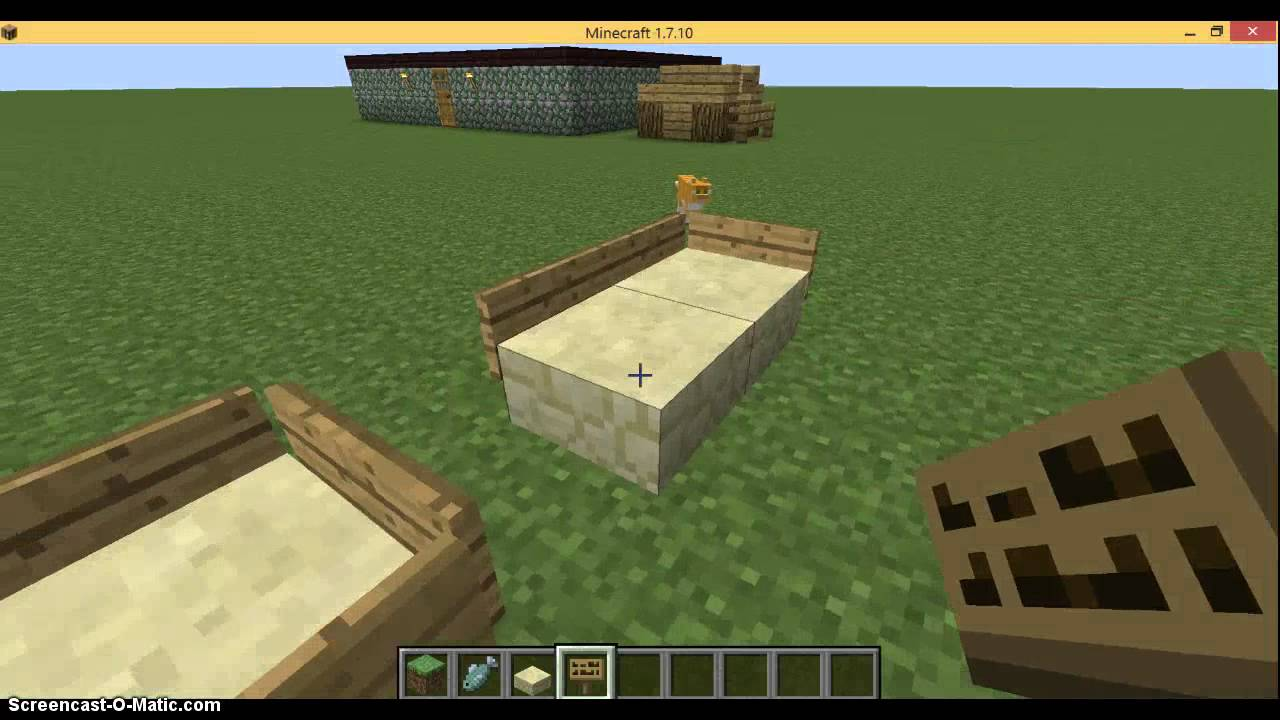 *Minecraft Tutorial* How to make a cat/dog bed - YouTube