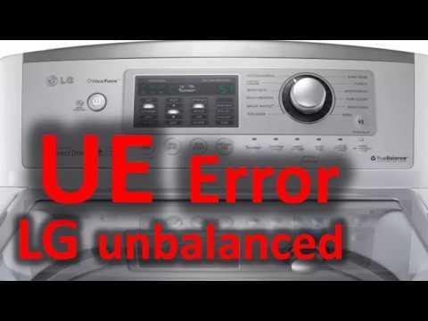 UE Error Code SOLVED!!! LG Top Loading Washer Washing Machine Unbalanced