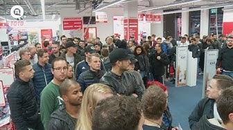 Nachtopening MediaMarkt Nieuwegein verkoop FIFA 18 en NINTENDO SNES MINI | NieuwegeinTV