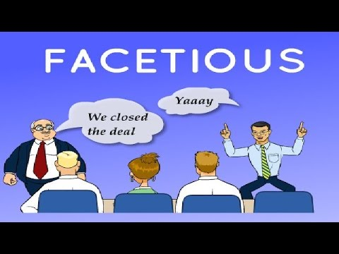 what does facetious mean dictionary