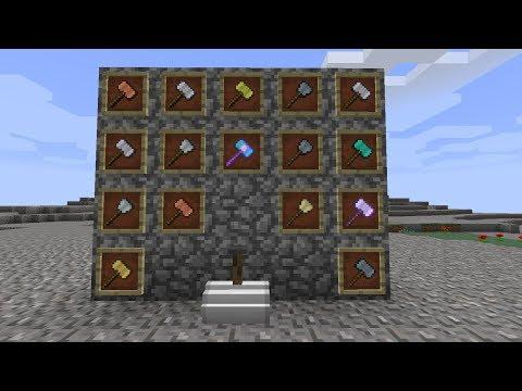 NUEVOS MARTILLOS Y HERRAMIENTAS SUPER CHETAS EN MINECRAFT | Vanilla Hammers Mod 1.14.1