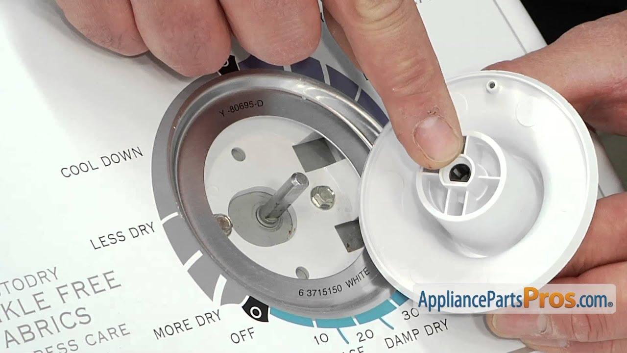 Dryer Timer Knob Skirt Part WP33001621