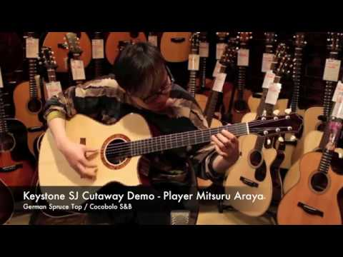 Keystone SJ Cutaway Cocobolo Demo - Player 荒谷みつる