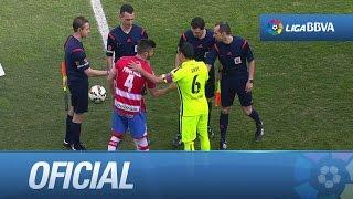 Entrada al terreno de juego del Granada CF - FC Barcelona
