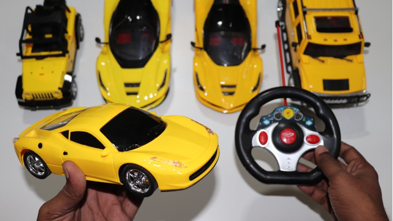 My Yellow Colour RC Ferrari Car Unboxing & Testing - Chatpat toy tv