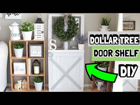 DOLLAR TREE DECORATIVE DOOR SHELF DIY