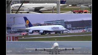 ++ STURM ++ Airbus A380 mit SICHERHEITSLANDUNG in STUTTGART - [Flughafengroßalarm] - [E]