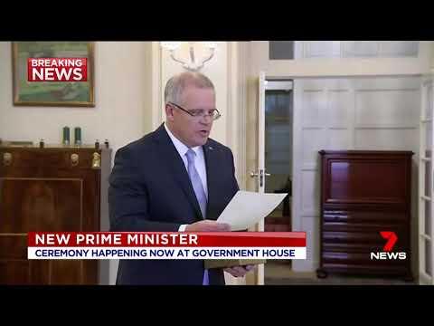 Seven + Nine News. Scott Morrison Signs Minister of Prime.(Australia)(30th PM) Mp3
