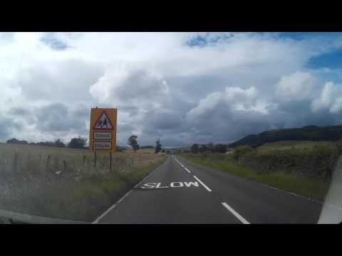 Drive From Cupar Fife To Perth Perthshire Scotland