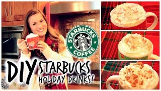 DIY Starbucks Holiday Drinks: Peppermint Mocha, Eggnog Latte and Gingerbread Latte! Thumbnail