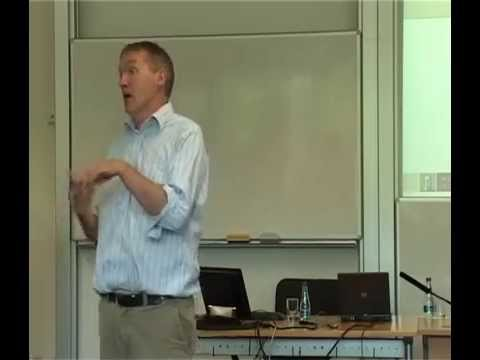 Prof Eamon O'Shea, NUI Galway, speaking at the ISSP Summer School 2009