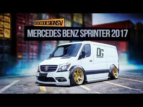 mercedes benz sprinter 2017 tuning photoshop cc 2018 youtube. Black Bedroom Furniture Sets. Home Design Ideas
