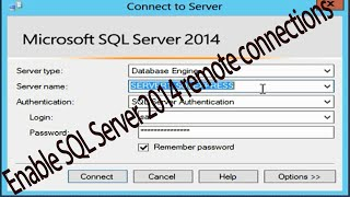 Allow remote connections to SQL Server Express : How to Video