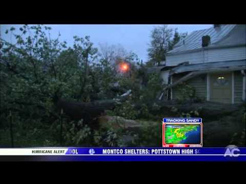 6ABC WPVI Philadelphia Action News 6:30pm - Hurricane Sandy coverage 10-29-12