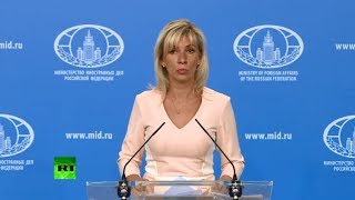 LIVE: Russian Foreign Ministry news briefing
