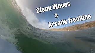 Surf Vlog 4 - Clean Waves and Arcade Freebies