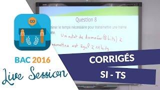 Bac 2016 : Corrigés de SI - Terminales S